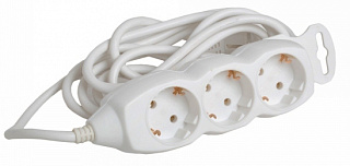 Удлинитель без упаковки КОСМОС 3 метра, 3  гнезда, заземление ПВС 3*1, 16А