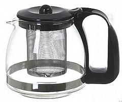 Заварочный чайник LARA LR06-07 ,700мл, стальной фильтр, отделка хром