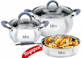 LR02-102 Набор посуды LARA Bell, 3 пр.