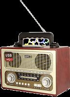 """Радиоприемник """"БЗРП РП-312"""", УКВ 64-108МГц, бат. 4*R20 (не в компл.), 220V, USB, SD,"""