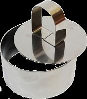 Форма для салата с прессом «Кольцо» 8*4см нерж.сталь 6/72 (8611 из короба 6/72)