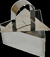 Форма для салата с прессом «Треугольник» 8*4см нерж.сталь 6/72 (8612 из короба 6/72)
