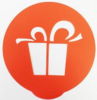8054 Набор трафаретов для декорирования тортов 23,5*22,5см полипропилен цвет и формы в асс. 12/144 (