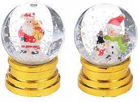 "СНОУ БУМ Снежный шар 6,5 см, полистоун, ""Новогодний"", 3 дизайна"