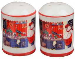 820-705 Набор для соли и перца MILLIMI Повар , 4x4х7см, керамика