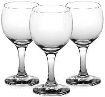 """878-284 Набор фужеров PASABAHCE  3шт для вина, 175мл, """"Bistro"""", 44415b"""