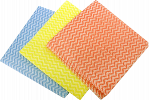 Набор салфеток из вискозы 3шт, перфорированных, 30x60см 448-113