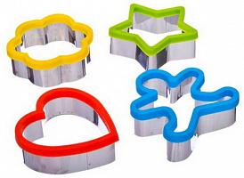 891-177 Набор формочек для печенья 4шт, на подвесе, силикон, металл