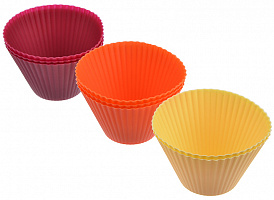 """856-105 Набор форм силиконовых 8шт VETTA , 8x5см, 3 цвета, """"Кекс"""""""