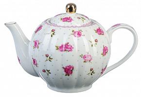 821-900 Чайник заварочный 1000 мл Розочка , фарфор