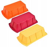 891-009 Форма силиконовая прямоугольная VETTA  22,5x12,5x6см, 3 цвета, HS-007B