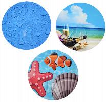440-313 Суперкрючок для ванной, силикон, d8,5см, 3 дизайна, в блистере