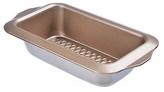 849-150 Форма для выпечки хлеба, угл.сталь, 28х15х6см, золотистое покрытие