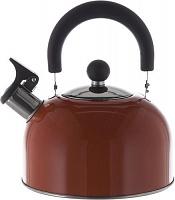 Чайник  со свистком и с крышкой 2,5 л, HITT Rondo Plus капсулированное дно, красный H01023/1