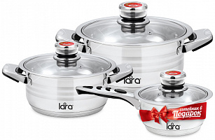 Набор посуды LARA LR02-104  ADAGIO, 3 пр.