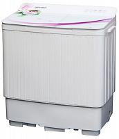 Стиральная машина OPTIMA МСП-60СТ Вариант2 (Белое стекло, сиреневые цветы)