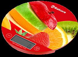 Весы кухон SA-6076F  8кг элек фрукты