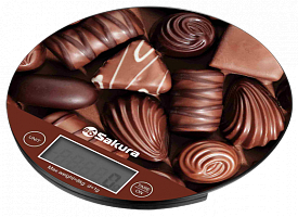 Весы кухон SA-6076С 8кг элек шоколад