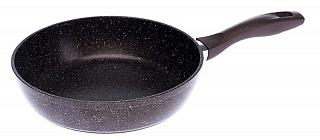 Сковорода Алтай 260 мм АП с бр.крошкой и бакелитовой ручкой 1226-07