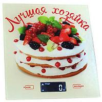 Весы настольные электронные ВАСИЛИСА ВА-006 Лучшая хозяйка (12) 5 кг, стекло.