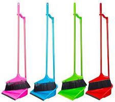 """Набор для уборки """"Щетка и совок"""" 445-031, 2 ручки длиной 62 см, в асс. по цветам, 1/24 (12563"""