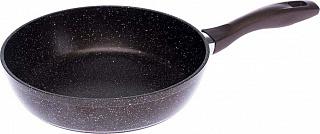 Сковорода Лада 280 мм АП с бр.крошкой и бакелитовой ручкой 1128-03