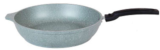 Сковорода 240/60мм со съемной ручкой,АП (фисташковый мрамор) смф246а