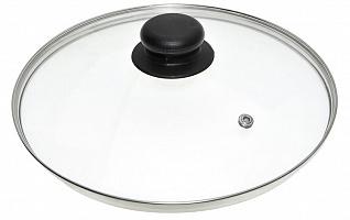 Крышка стеклянная с метал/обод 28 см низ.ФЭ9-111