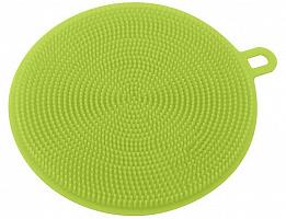 """Щетка силиконовая для мытья посуды, овощей и фруктов """"Круг"""" 11,5см, vi58-9"""