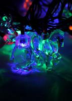 Светодиодная гирлянда КОСМОС 30 светодиодов, животные мультиколор,  4,4м, 8 режимов мигания KOC_GIR30LEDMIX3_RGB