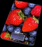 Весы кухон SA-6075В 8кг элек ягоды
