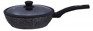 Сковорода 26*7см, крышка, KENWELL DFL3026