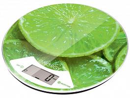Весы кух. электронные ENERGY EN-403 (лайм) круглые