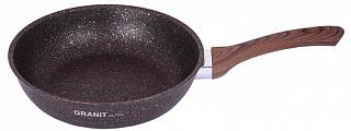 Сковорода  24 см, KUKMARA, Granit ultra, сга240а,  антипригарное покрытие, красный