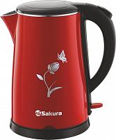 Чайник электро Sakura SA-2159BR красно/черн.