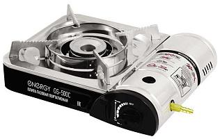 Плита газовая портативная ENERGY GS-500 (кейс, 2 типа подкл. газа)