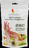 Перчатки виниловые одноразовые, опудренные, унив.р-р, 10шт в пвх-пакете с зип локом (9316 из ко