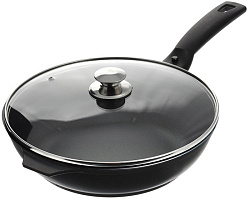 Сковорода  26 см  KUKMARA смк26603а,  крышка,кофейный мрамор