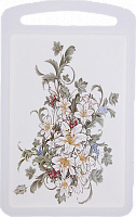 Доска разделочная 275х173 мм Цветы М1575 (19)/М-П (М1575)