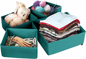 Набор коробок для хранения вещей, 4шт в наборе, П-22 (11819 из короба 1/15)
