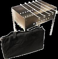 """К-6 Мангал-коптильня """"Эконом"""" (5 шам. уголок 370х10х0,5) в коробке в сумке 400х250х400х0,5мм"""