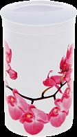 Банка д/сыпучих продуктов Деко Орхидея М1374
