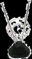 Антенна комнатная ДМВ+МВ с кольцом, ЭФИР 618/25065