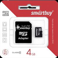 Карта памяти SDHC micro Smartbuy 8.0 Gb класс 10