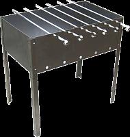 Мангал 350х250х140 (5 шампуров уголок 370х10х0,5) в коробке  (0,5мм)  М-2
