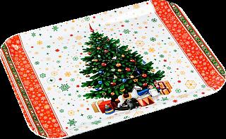 """Поднос пластик, VETTA, 39*28см, """"Новогоднее настроение"""" CD019"""