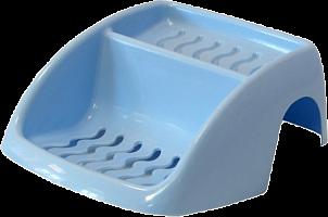 2221 Мыльница на ванну голубая М2221
