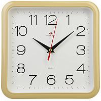 "Часы настенные квадрат 22х22см, пластик, корпус бежевый ""Классика""2223-319 (5) 581-683"