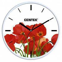 Часы настенные Centek СТ-7102 Tulips (маки)