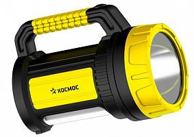 Фонарь аккум КОСМОС 5W LED, бок.пан. 10Вт, 3 реж раб, з/у 220/12в